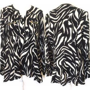Rafaella printed blouse, Sz S/ch